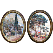 Pair of Signed Landscape Paintings of Provence.