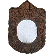 Naive Folk-Art Mirror from France