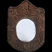Naive Folk-Art Mirror from France