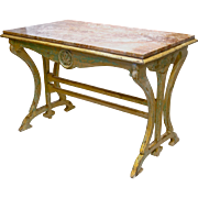 Marble Topped Console Table from France.