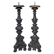 Pair of Church Candlesticks from Italy