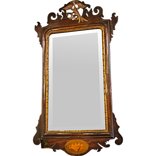 Antique Walnut Mirror from England