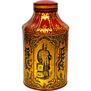 Victorian 'Pagoda' Tea Canister from England.