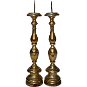 Pair of Gilded Candlesticks from Italy.