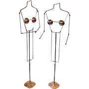 Pair of Mid-Century Metal Mannequins