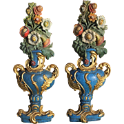 Pair of Historical Vase Carvings