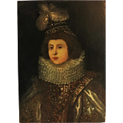 Oil Painting of Woman in Ruff