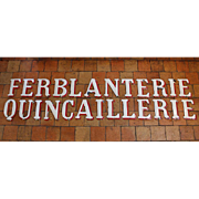 Two Vintage Enamelled Sign Letters from France
