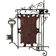 19thC. Locksmith's Trade Sign from France