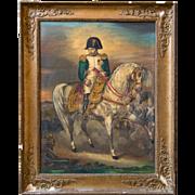 19thC. Oleograhic Painting of Napoleon Bonaparte.