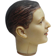 Signed Wax Mannequin Bust