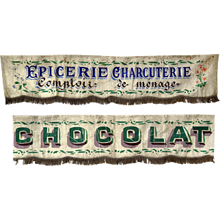 Vintage Awnings from a French Shopfront.