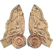 Pair of Carved 'Valkyries' from a European Fairground.