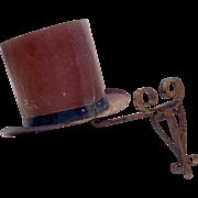 French Hatmaker's Trade Sign on Metal Bracket