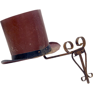 French Hatmaker's Trade Sign on Metal Bracket
