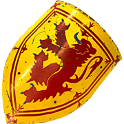 Painted Armorial Scottish Shield