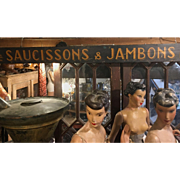 Painted Wooden Sign from French Shop