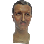 'Movie Star' Wax Mannequin Head from 1930's France