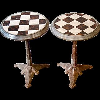 Superb Pair of Art-Deco Pavement Café Tables from France
