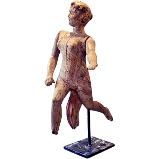 Early 19th C. Carved Angel from a Travelling Fair in France
