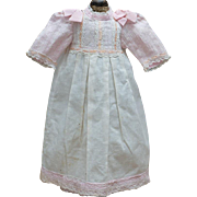 "Antique Original Presentation Chemise for Jumeau Bru Steiner Eden bebe other french doll 21-22"" tall"