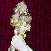 Antique original bridal or ball wax bouquet for fashion doll Huret Rohmer Jumeau bru Gaultier and other