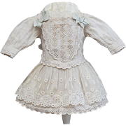 "Antique French Original Dress for Jumeau Steiner Eden bebe or early german doll about 16""-17"" (40-43 cm)."