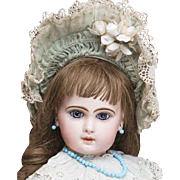 "24"" (61 cm.) Antique French Very Beautiful French Bisque Bebe Jumeau, Size 11, in Fine Original Costume, c.1880"