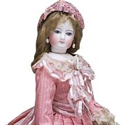"17 1/2"" (46 cm) Antique French Fashion Francois Gaultier doll, c.1870"