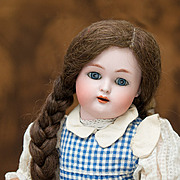 German Bisque Child by Kammer and Reinhardt with Pretty Antique Costume