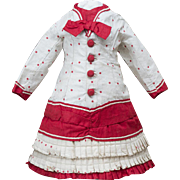 """Antique French Original Dress for Jumeau Bru Steiner Gaultier Eden Bebe or early german doll about 20-21"""" tall"""