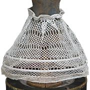 Antique Original  French Crocheted Hoop  Skirt Crinoline for fashion doll Huret Jumeau Rohmer Bru Gaultier and other, c.1870