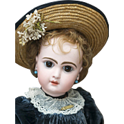 "20 1/2"" (52 cm.) Very Beautiful Antique French Bisque Bebe Jumeau Depose with Gorgeous Original Dress, size 9, c.1890"