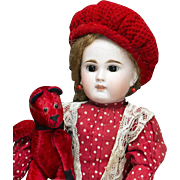 "15"" (38 cm) Beautiful Antique German Sonneberg Closed Mouth Bisque Child Doll, 137, by Mystery Maker, for the French Market, c.1885"