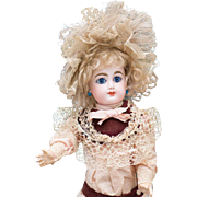 """13 1/2"""" Antique All Original French Bisque Bebe by Gaultier in Appealing Size"""