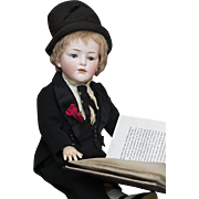 "18"" (46 cm) Very Rare Antique All-Original German Bisque Art Character doll, 149, with Glass Eyes, by Hertel & Schwab, excellent condition, c.1910"