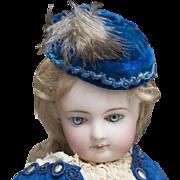 Superb Early Antique  All Original French Fashion Huret Era Poupee Bonnet  Hat