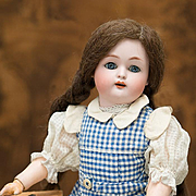 "16"" (40 cm) Antique German Bisque Child by Kammer and Reinhardt with Pretty Antique Original Costume"