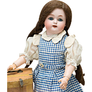"16"" (40 cm) Antique German Bisque Child by Kammer and Reinhardt with Pretty Antique Original Costume"