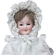 "13"" (33 cm.) Antique All Original German Bisque Three-Faced Character Doll by Carl  Bergner, c.1890"