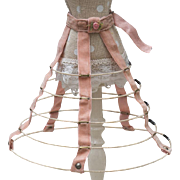 Antique Original French Early Hoop Skirt Crinoline for fashion doll Huret Jumeau Rohmer Bru Gaultier and other
