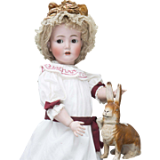 "25"" (65cm) Wonderful Antique German Bisque Character Doll with  Flirty eyes, 117N - 62, by Kammer and Reinhardt,model Mein Susser Liebling"