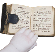 19th Century Miniature Leather Book Doll Size The Victoria Miniature Prayer Book, 1847