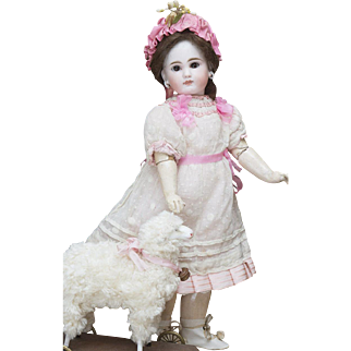 "14"" (35 cm) Antique German Bisque Closed Mouth Child Sonneberg  Doll, 137, by Mystery Maker, c.1885"