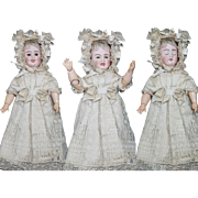 "12"" (30 cm.)  Antique German Bisque Three-Faced  Character Doll by Carl Bergner in Original Costume, with presentation box"