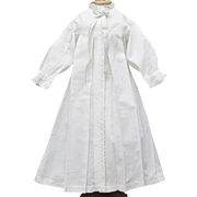 Antique French All Original Morning dress for large fashion doll Gaultier Rohmer Bru Jumeau and other