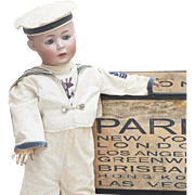 "24"" (61cm) Wonderful German Antique  Rare large Simon & Halbig 1498 bisque head character doll with Sculpted Hair, c.1910"