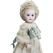 "13""  (33 cm) Antique French All original Jumeau Bebe doll with closed mouth, size 3"