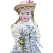 "25""  Antique German Kammer & Reinhardt 117n ""Mein Liebling"" Child doll on Original Teen-Flapper Body, in original dress, c.1912"