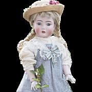 """25""""  Antique German Kammer & Reinhardt 117n """"Mein Liebling"""" Child doll on Original Teen-Flapper Body, in original dress, c.1912"""